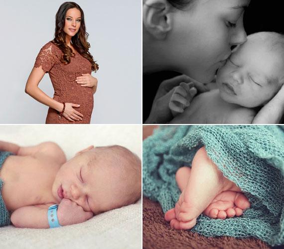 Lipcsei Betta modell és a Sport1 Harmadik félidő című műsorának vezetője május 4-én adott életet kisfiának, Krisztiánnak.