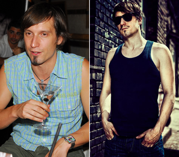 A bal oldali kép 2007-ben, a jobb oldali idén készült. Az énekes stílusa jó irányban változott, teste is kimunkáltabb lett.