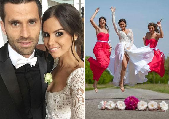 Konkoly Ági, a 2012-es Miss Universe Hungary és a Fradi egykori futballistája, a nála öt évvel idősebb Józsi György nyár végére tervezték az esküvőjüket, de végül május 17-én tartották meg. Az ok: a 27 éves szépség babát vár, első gyermeke várhatóan november végén születik meg.