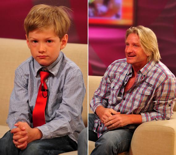 Pintér Máté szeme és haja színét is népszerű színész édesapjától örökölte.