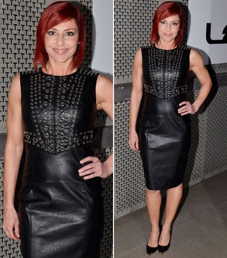 Erős Antónia  Az RTL Klub híradósa a képernyőn visszafogott ruhákban látható, de a 2016-os Playboy-gálán elővehette a dögös oldalát. Ebben a bőrből készült ruhában vonzotta is a tekinteteket.