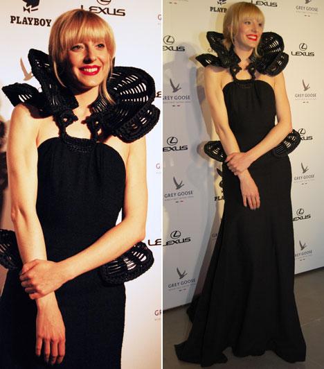 Horányi Juli  A tavalyi X-Faktorral ismertté vált énekesnő Gottlieb Réka különleges fekete ruhájában feltűnő jelenség volt, mintha egy élő műalkotás jött volna velünk szembe.