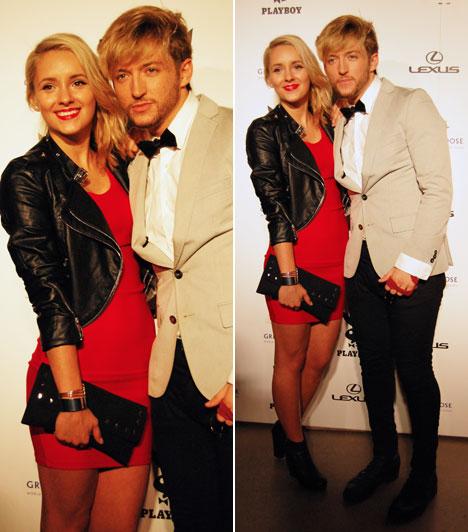 Jakab-Péter Izabella és Spoon Marci  Az X-Faktor énekesnője és a Spoon együttes Grósz Marcija a Playboy-gálára is együtt érkeztek. Az énekes elegáns öltönyt, Bella pedig egy dögös, piros koktélruhát viselt.