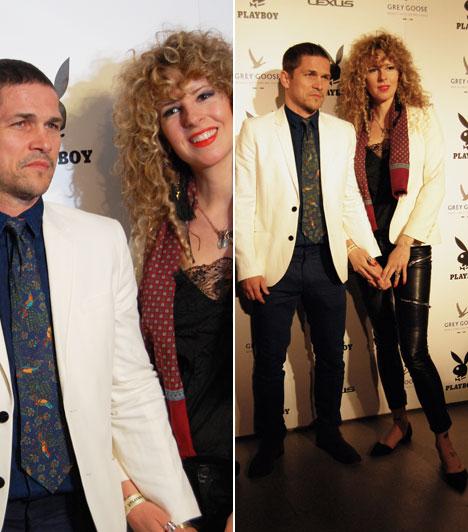 Nagy Zsolt és párjaA színész párjával, a művészettörténész Katával érkezett a Playboy-díjkiosztóra.