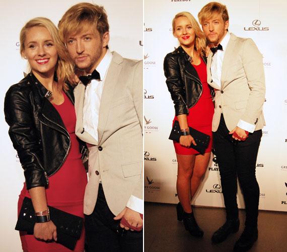 A tavalyi X-Faktor szerelmespárja, Jakab-Péter Izabella és Grósz Marci. A Spoon énekese zenekarával érkezett, de Bella volt az, akinek a kezét szinte egész este szorongatta.