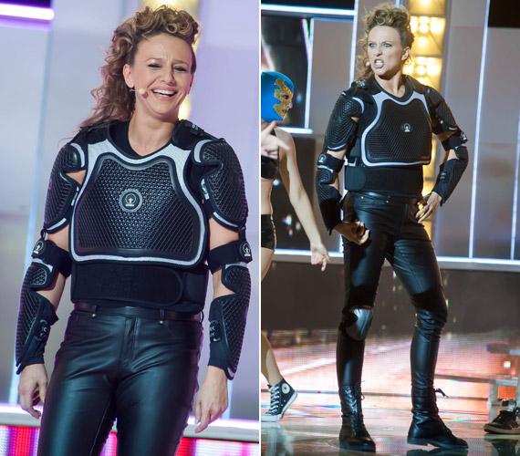 A színésznő a Black Eyed Peas Pump It című számával vagány ketrecharcosként lépett színpadra. Ezt a produkciót is maximális pontszámmal jutalmazta a zsűri.