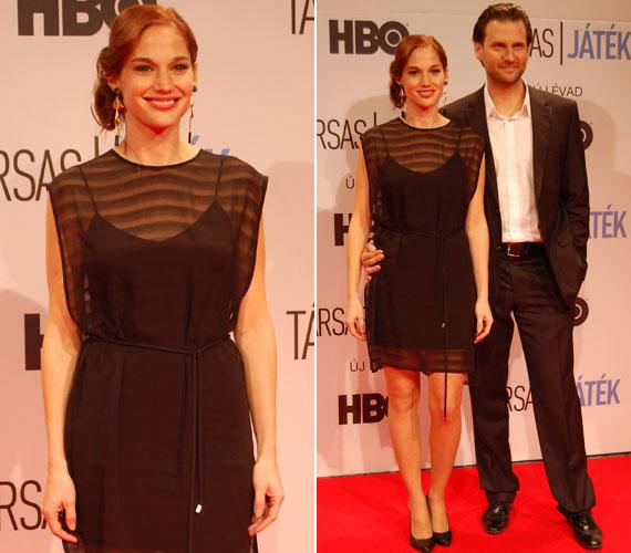 A sorozat egyik szerelmespárját, Lénát és Dávidot játszó Martinovics Dorina és Simon Kornél természetesen együtt lépett a vörös szőnyegre.