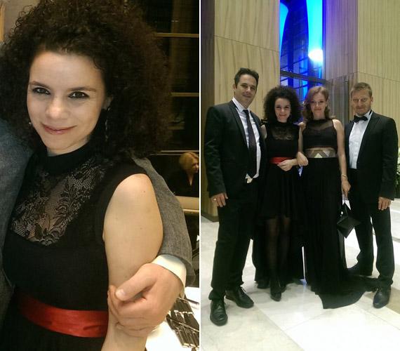 Al Ghaoui Hesna, a Bábel - Hesnával a világ című sorozat készítője is megjelent a díjátadón. Az M1 tévése április 2-án adott életet kislányának.