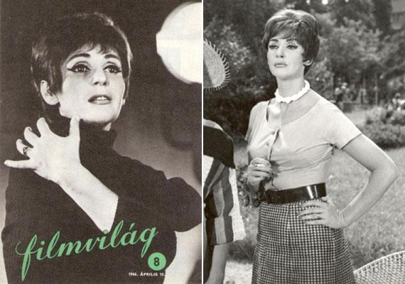 A Filmvilág magazin címlapján 1966 áprilisában jellegzetes, rövid hajjal. Már Keleti Márton 1961-es, Nem ér a nevem című filmjében is kurtára vágott fürtökkel állt kamerák elé.