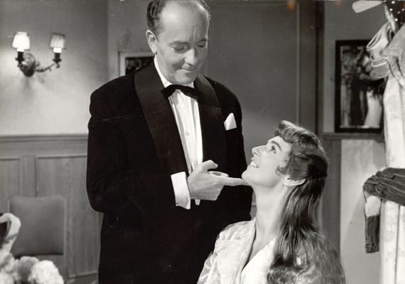 1958-ban négy filmben is láthatta a közönség. A képen Gertler Viktor Felfelé a lejtőn című alkotásában.