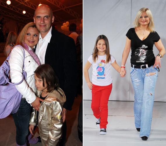 A Rába Tímea második férjétől, Tóbiás Józseftől született kislány már a kifutón is kipróbálhatta magát egykori modell édesanyja mellett.