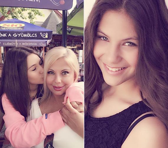 Anya és lánya között nagy az összhang, közös fotóik tanúsága szerint imádják egymást. A jobb oldali kép Nina egy újabb fellépése előtt készült.