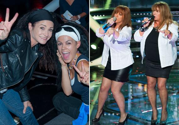 Csobot Adél a Zanzibár a énekesnőjét, Terecskei Ritát, Baby Gaby pedig Zalatnay Saroltát alakította a színpadon - mindkettejüknek ott szurkolt az eredetijük, sőt, Cini színpadra is pattant Gabi mellé.
