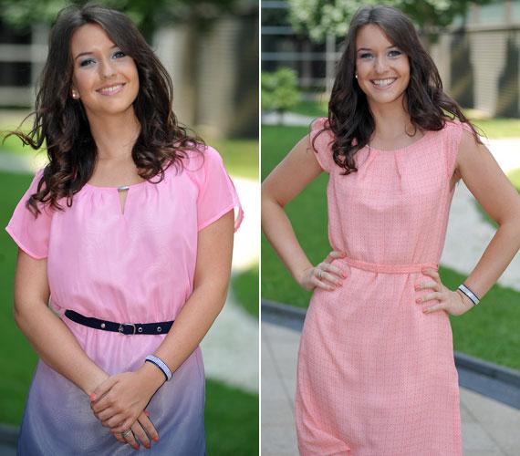 A pasztellszínek - legyen az rózsaszín vagy barack - jól állnak napsütötte bőréhez és barna hajához.