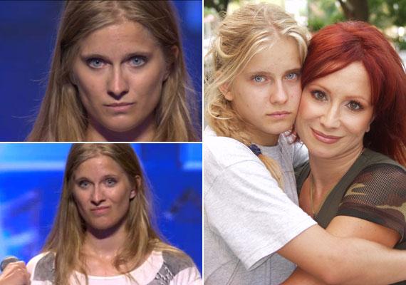 A 26 éves Rékasi Eszter a Hungary's Got Talent című tehetségkutatóban, illetve még gyerekként édesanyjával.