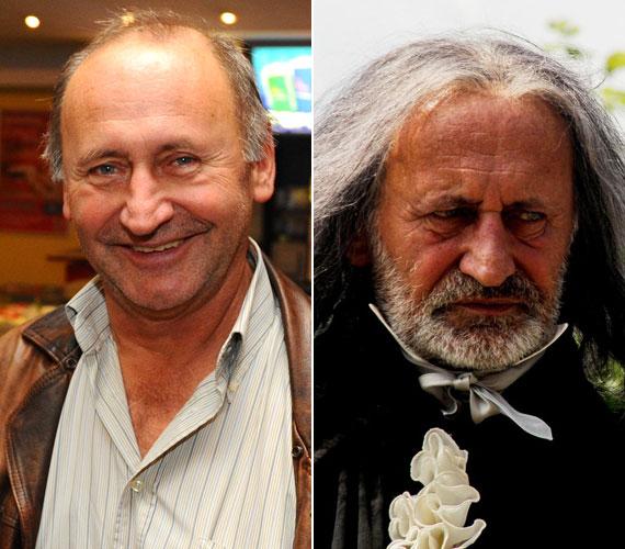 Reviczky Gábor a Kossuthkifliben Swappach Ferdinánd tanácsost alakítja. A maszkmester hosszú, ősz hajjal öregített a 65 éves színészen.