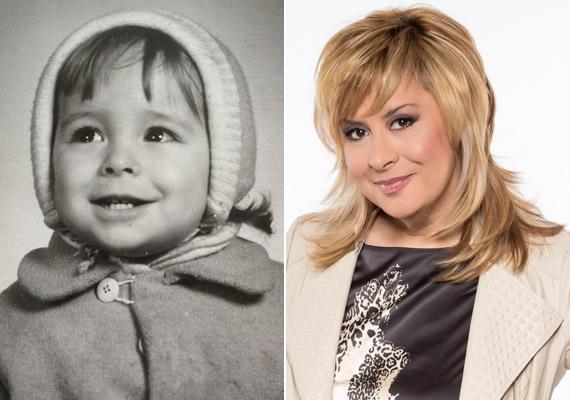 Szulák Andrea színésznő, énekesnő, műsorvezető mosolygós kisbaba volt.