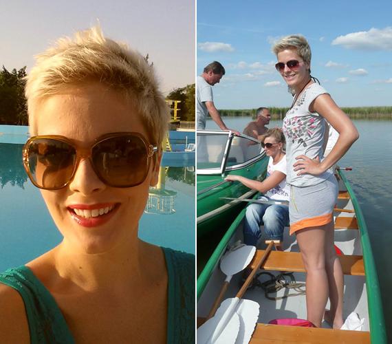 Tatár Csilla abban a szerencsés helyzetben volt, hogy a Mokka műsorvezetőjeként a nyári forgatási napokat mindig tó vagy medence partján tölthette, így a munka mellett nyaralni is tudott.