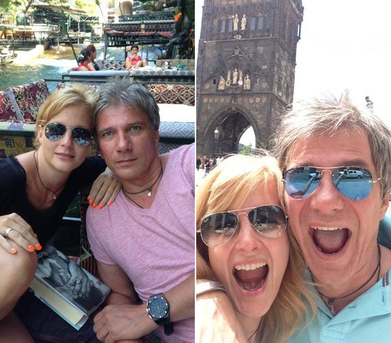 Várkonyi Andrea és párja, Bochkor Gábor kettesben járták a világot.