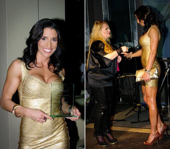 Rubint Réka az est folyamán átvehette a 2012-es év női oktatója díjat is.