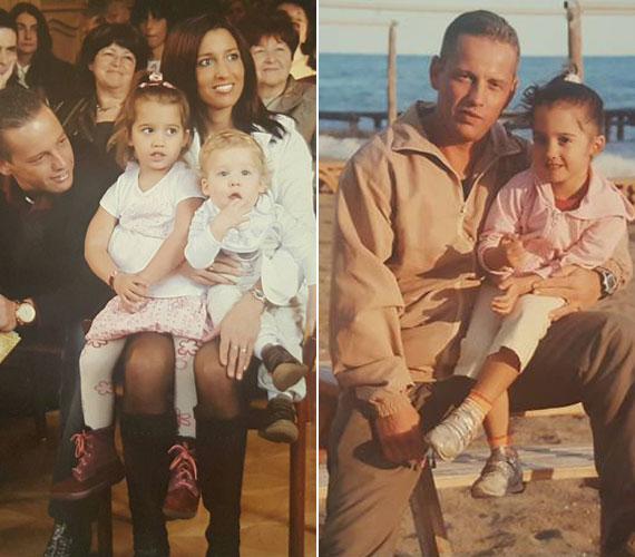 Amikor még csak négyesben alkottak egy családot: Norbi, Réka, Lara és a kicsi Norbi. A harmadik gyermeke, a Zizmikének becézett Zalán, 2011. március 10-én született.