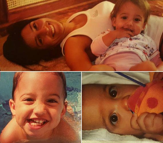 Rubint Réka 25 évesen lett először édesanya. A képen a 2003 októberében világra jött Larával látható, aki a háromgyerekes Schobert házaspár elsőszülött csemetéje.