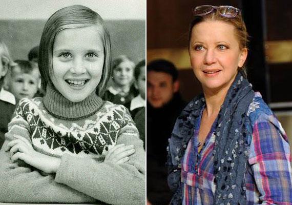 Eszenyi Enikő színésznő, a Vígszínház igazgatója kislányként az iskolapadban.