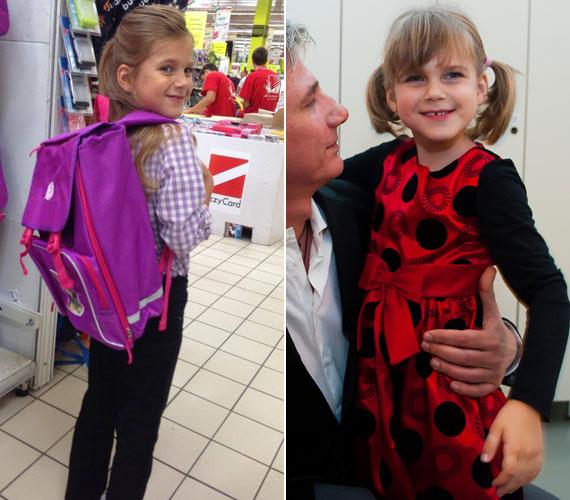 Várkonyi Andrea és Bochkor Gábor nyolcéves lánya, Nóri tavaly nyáron nőtt sokat, szeptemberben már egy nagylány ment iskolába.