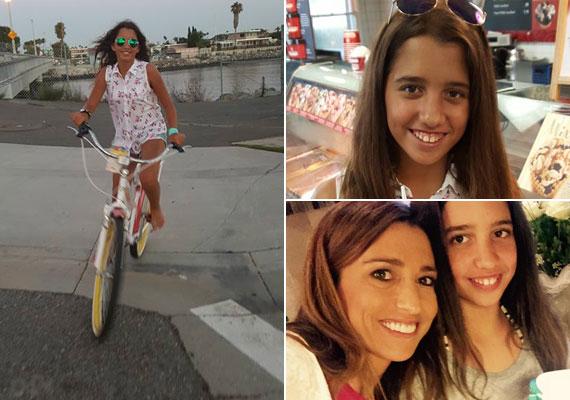 A bicikliző Larát csak a blúza buktatta le, hiszen anyja nem szokott ilyen ruhát viselni. Első ránézésre sokan összekeverték Rubint Rékával, mivel ugyanolyan a frizurájuk, Lara egyre magasabb, és ugyanolyan sportos, mint az anyukája - ráadásul a napszemüvegük is ugyanolyan.