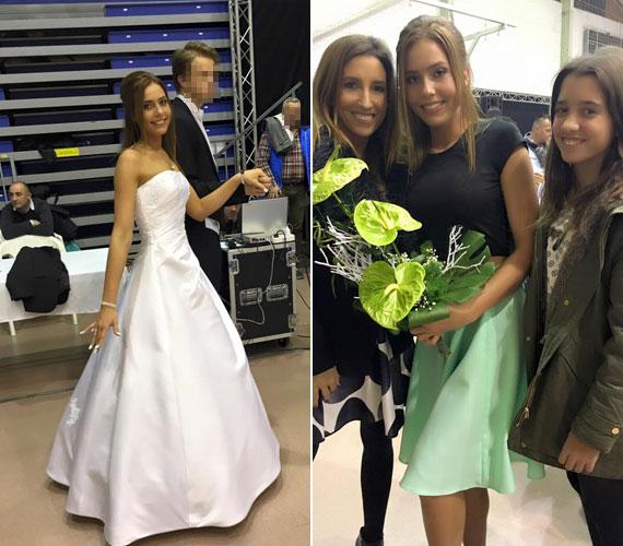 Rubint Réka büszke gyönyörű 18 éves unokahúgára. Vele és lányával, Larával pózol. A fotót a Facebookon osztotta meg.