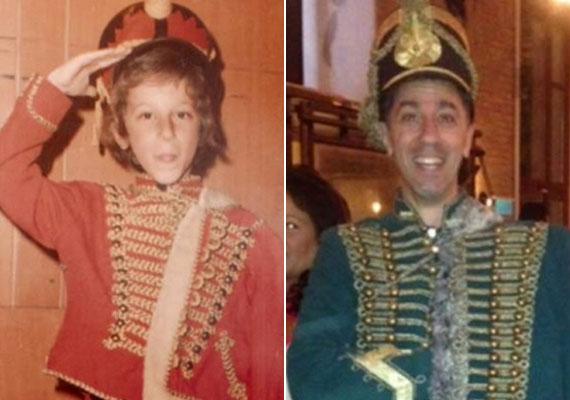 Csonka András mindkét képet a Facebookra tette fel - a színész játékossága közel az 50-hez mit sem változott.