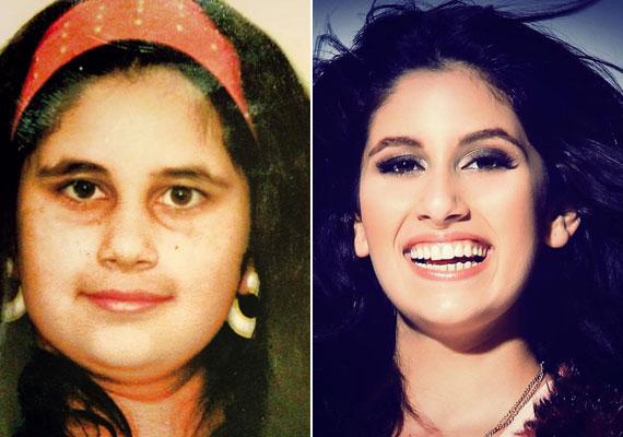 Radics Gigi énekesnő nyolcéves kislányként még duci volt, 17 évesen viszont már kész nő.