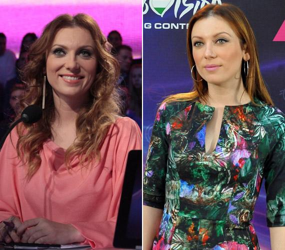 A vasárnap este készült bal oldali fotót elnézve Rúzsa Magdi sötétszőke hajszínre váltott. A Dal decemberi sajtótájékoztatóján még kétséget kizáróan a vörösek táborát erősítette.