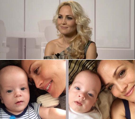 Tavaly nyár, idén nyár - írta a babafotók mellé Sándor Orsi, aki 36 évesen lett anya, egy éven belül két gyermeke is született. Erik és Boti között mindössze tíz hónap a korkülönbség, a második gyerkőccel ugyanis a hetedik hónapban megindult a szülés. A fiúk között napra pontosan tíz hónap a korkülönbség.