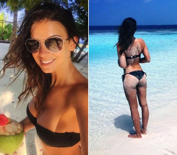 Hajdúék január végén a Maldív-szigeteken pihentek, a műsorvezető akkor is előszeretettel tett ki a Facebook-oldalára bikinis fotókat a feleségéről. Még annak formás fenekét is lefotózta.