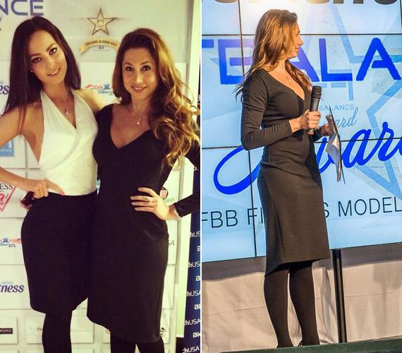 Horváth Éva egy klasszikus kis feketében adta át a díjakat, Az év legfittebb műsorvezetőnője 2014-ben Czippán Anett, a FEM3 sztárja lett.