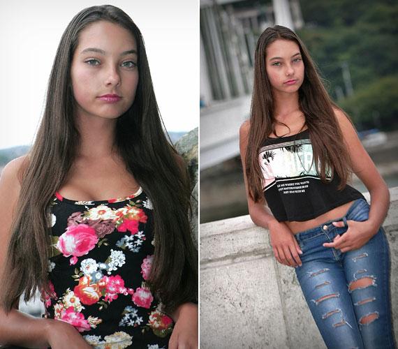 Kiszel Tünde 14 éves lánya, Donatella két évvel ezelőtt önszántából döntött úgy, hogy modellnek áll.