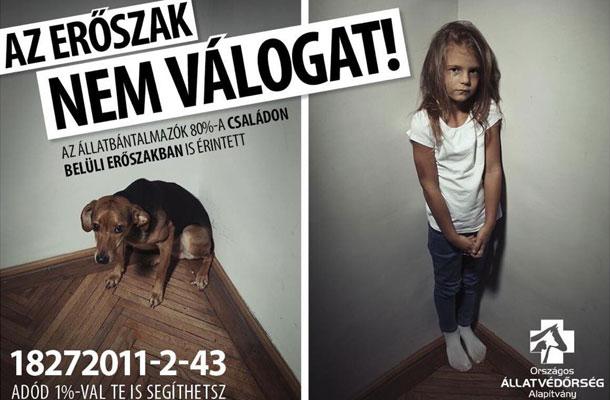 Sarka Kata kislánya, a hatéves Noémi egy komoly kampány kedvéért állt kamerák elé: egy rendőrségi kimutatás szerint az állatokat bántalmazók 80%-ban családon belüli erőszakot is elkövetnek.