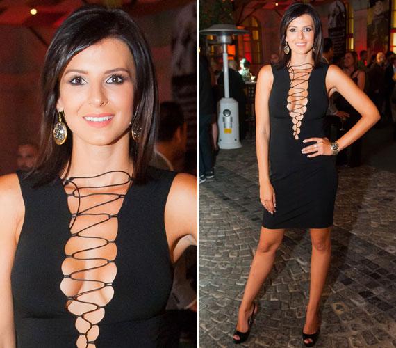A hot! magazin 2012-es partiján a dress code szexi és elegáns volt, Sarka Kata pedig igyekezett mindkét kritériumnak megfelelni.