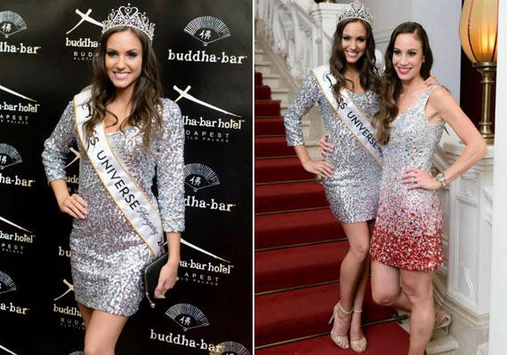 Nagy Nikoletta, a 2015-ös Miss Universe Hungary győztese a Missy egy hosszú ujjú, ezüst koktélruhájában tündökölt.