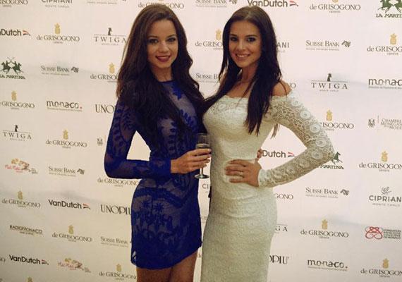 Sarka Kata a 2015-ös Miss World Hungary győztesével, Kiss Daniellával.