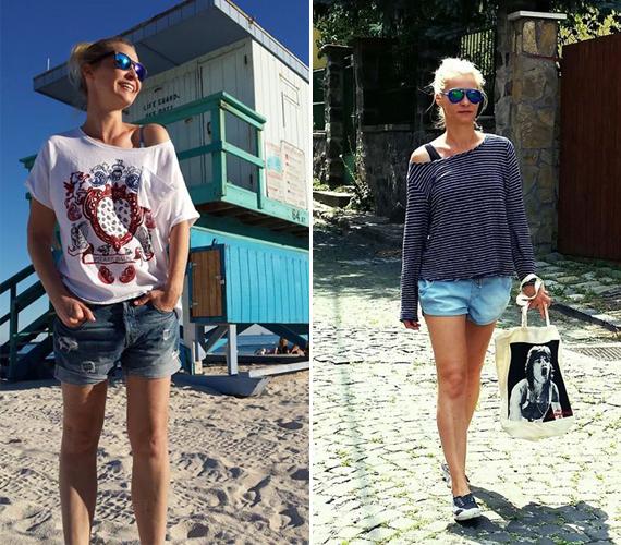 Az RTL Klub szőke műsorvezetője, Lilu az általa vezetett műsorokban is szívesen teszi közszemlére lábait, ezért nem meglepő, hogy a magánéletben szintén kedveli az ilyen ruhadarabokat.