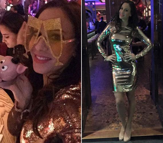 Vajna Tímea is egy testhezálló ruhába bújt szilveszterkor, de Andy Vajna felesége a ragyogó aranyra szavazott.