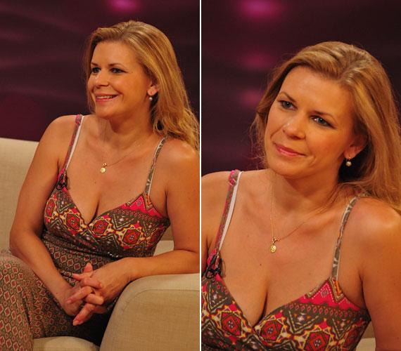 2012 júliusában a TV2 Mokka című reggeli műsorában sugárzóan szép volt a szokatlanul mély kivágású nyári ruhában - háromgyerekes anyaként szexibb volt, mint valaha.