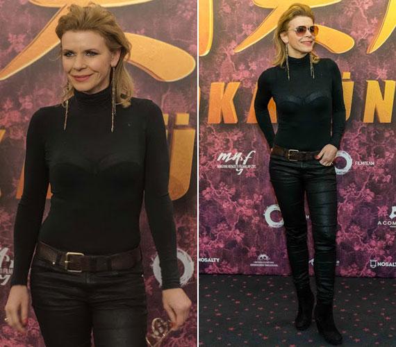 A Liza, a rókatündér februári bemutatóján a színésznő ebben a dögös és merész szerelésben jelent meg. A szűk, bőrhatású nadrág és a testhezálló, átlátszó felső jó választás volt.