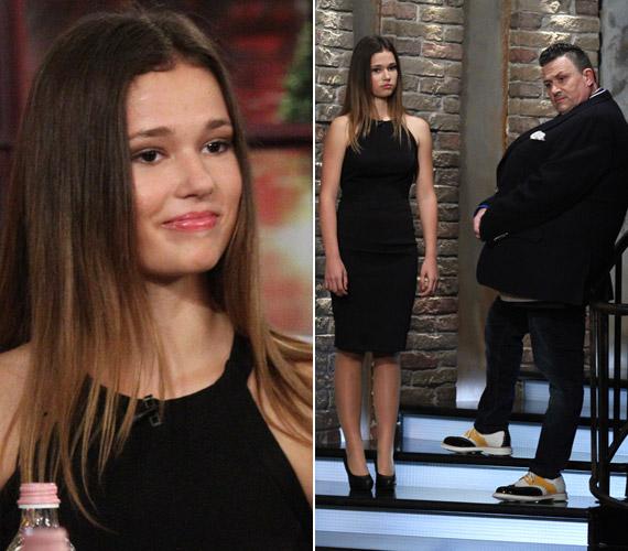 Mindenki elámult, amikor a Frizbi tavaly novemberi adásában Galambos Lajos megjelent a lányával. A 15 éves Boglárka modellalkatú, gyönyörű lány lett.