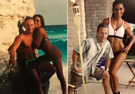 Schobert Norbi és Rubint Réka régen is szerettek egymással pózolni - Norbi anno és most is büszke bikinis felesége alakjára.