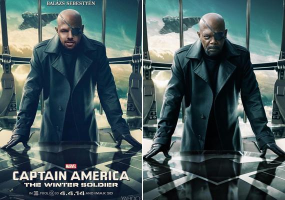 Egyesek szerint ha Sebestyén Balázs kopasz lenne, akkor az Amerika kapitány-os mozikban simán eljátszhatná Samuel L. Jackson figuráját, Nick Furyt.