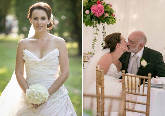Csézy egy pazar esküvőn, könnyezve mondta ki a boldogító igent szerdán a nála 20 évvel idősebb párjának.