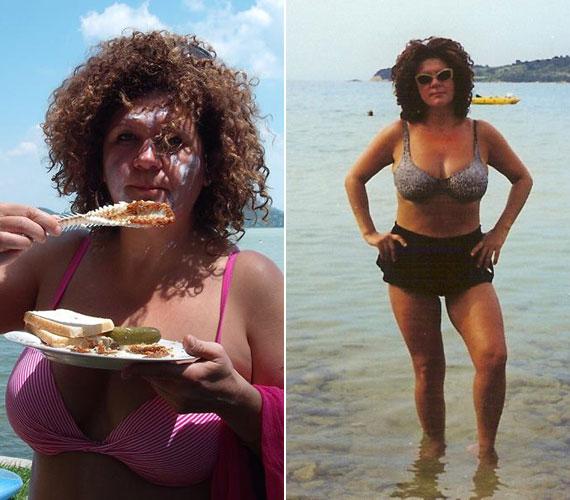 A közösségi oldalán néha bikinis képeket is láthatunk a 49 éves sztárról, nem rejtegeti telt, nőies idomait.